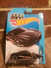 Hot Wheels Black Ferarri 458 Italia #35/250 HW City ERROR Wheels Swapped Oops