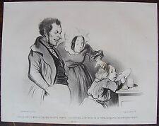 HONORE DAUMIER (1808-1879). L'aimable enfant. N°25 . Lithographie originale