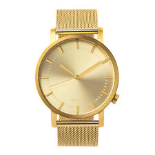 Gold Minimalist Watch for Men Swiss Quartz Stainless Steel Nixon/Komono Style