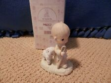 "Enesco Precious Moments - ""He Leadeth Me"" Shepherd w/ Lamb"