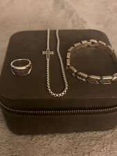 David Yurman Pave Black Diamond Set for men