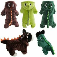 Pet Dog Cat Dinosaur Costume Clothes Christmas Winter Jumpsuit Jacket Party Coat