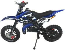 SYXMOTO Holeshot Mini Dirt Bike Gas Power 2-Stroke 49cc Motorcycle Beginner Blue
