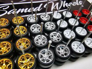USA STOCK Samed Wheels 16 set 6 spoke wheels color mix for 1:64 HW car #43