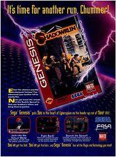 1994 Sega Genesis SHADOWRUN Shadow Run video game magazine print ad page