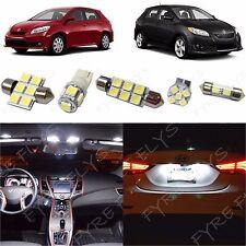 6x White LED lights interior package kit for 2009-2013 Toyota Matrix TM1W
