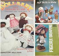 DOLL magazine Vintage Soft Dolls Draping Baby 1972-1984 Lot Of 3