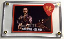The Who John Entwistle trading card / gold on red signature guitar pick display!