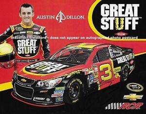 AUSTIN DILLON AUTOGRAPHED GREAT STUFF DOW RCR CHEVY RACING NASCAR PHOTO POSTCARD