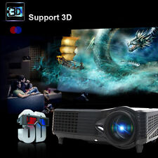 3D Full HD 5000 Lumens 1080P Smart Projector Theater LED/LCD HDMI VGA AV TV VGA