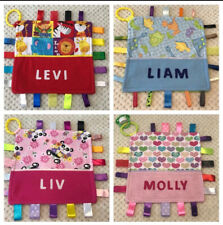Babies Personalised Taggy Security Blanket / Comforter Toy - Various Designs -
