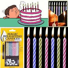 10pcs Birthday Cake Relighting Funny Magic Candles Toys Trick