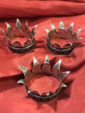 Tris Corone Metallo Bagno Argento 3 Cm Diametro King Re Magi