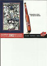 2002 Montreal Expos Pocket Schedule