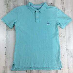 Southern Tide Turquoise Blue Skipjack Polo Shirt Golf Boys Sz XL 16