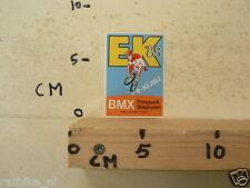STICKER,DECAL BMX  EK 88 PONYPARK SLAGHAREN 9-10 JULI CYCLING