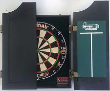 Winmau DUAL CORE Blade 5 FIVE Dart Board & TIMBER Black Cabinet + 6 x Darts