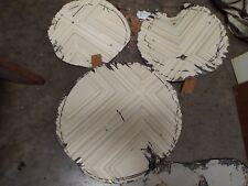 THREE  Tin Ceiling Tile - @1920  Cutouts  Architectural Salvage FREE Postage USA