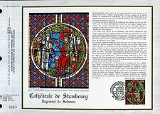 DOCUMENT CEF PREMIER JOUR  1985  TIMBRE  N° 2363 VITRAIL CATHEDRALE  STRASBOURG