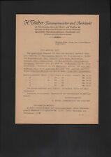 FRANKFURT/O., Brief 1923, H. Tödter Zimmermeister Architekt
