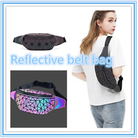2020 Luminous Holographic Fanny Packs Festival Rave Fashion Geometric Waist Pack