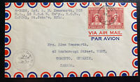 1945 St John's Newfoundland CAPO 1 Airmail Censored Cover To Toronto Canada