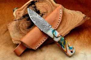 MH KNIVES CUSTOM HANDMADE DAMASCUS STEEL FULL TANG HUNTING/SKINNER KNIFE MH-353Z