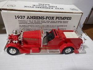 Ertl 1937 Ahrens-Fox Plumer Bank 1:30 Scale 052821DMT