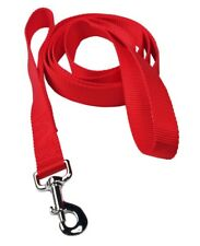 New listing Caldwell's Pet G Dog Leash 6ft Long Two Handle Dog Leash Red