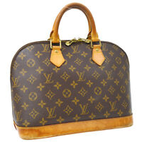 LOUIS VUITTON ALMA HAND BAG PURSE MONOGRAM CANVAS M51130 FL0031 35991
