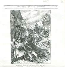 Jean-Henri Dombrowski général Légions polonaises Pologne GRAVURE PRINT 1848