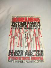 Victims Family Nomeansno Shark Bait Cast of Thousands punk 80's concert poster
