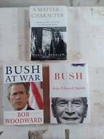 Lot of 3 George Bush: A Matter of Character, Bush at War, Republican, President