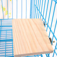 Wooden Parrot Bird Cage Perches Stand Platform Pet Parakeet Budgie Rat Toys
