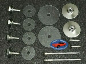NOSR GM Wing Vent Window Frame Channel Mounting Chrome Bolt Nut & Screw Kit 14pc