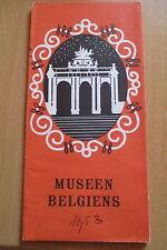 Reiseprospekt Belgien Museen , auffaltbar 20  Seiten um 1958