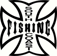 South Coast Fishing,, Tacklebox, Boat Sticker Decal