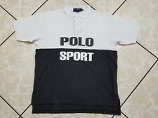 VINTAGE Ralph Lauren Polo Sport Short Sleeve Shirt Adult Large Spell Out Rugby