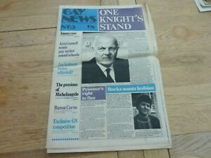 1974 RARE UK GAY NEWS NEWSPAPER No 65 24 PAGES COMPLETE
