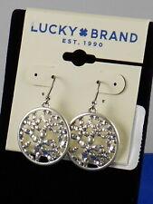 Coin Drop Earrings Jwel2173 $25 Lucky Brand Silvertone Openwork Flower