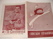 Chicago Stagebill 1947 Ray Bolger Three To Make Ready Hershfeld cover playbill