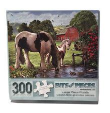 Bits and Pieces 300 Piece Puzzle Hadlow Cricket Mare Horses Large Pieces NIB