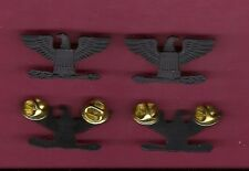 Pair of full size Colonels Eagles Rank in subdued Combat Black
