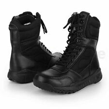 Men's Leather Tactical Army Military Ankle Boots Combat SWAT Hunting Work Shoes