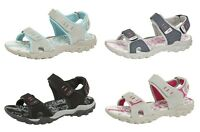 Womens Ladies Sports Sandals PDQ Triple Strap Cushioned Hiking Trail Shoes 3-8