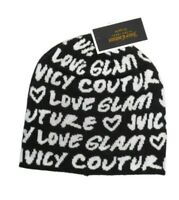 Juicy Couture Women's Graffiti Logo knit Beanie hat Black & White nwt