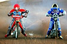 More details for reading racers speedway action smallmead stadium photograph picture print