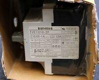 SIEMENS Leistungsschalter für den Motorschutz 3VE1010-2F - 0,63-1A - 12A - 1S/1Ö