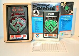 Vintage 1980 Entex Baseball 3 Hand Held Electronic Game with Box Works