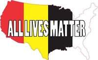 6x3.5 America All Lives Matter Bumper Sticker Car Window Vinyl Police Stickers